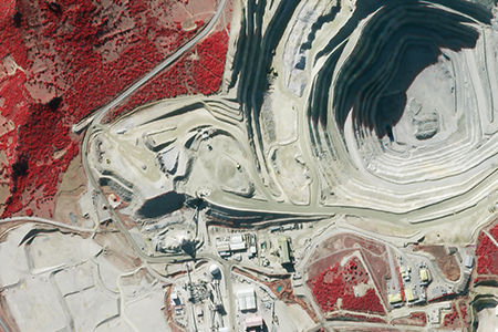 SkySat-1 Satellite Image of Gold Mine, Western, Turkey