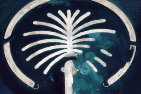 Satellite Image Palm Jumeirah Island