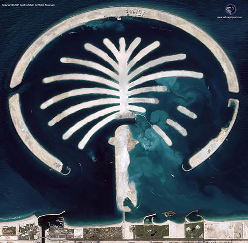 Satellite Image of the Palm Islands (IKONOS)