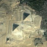 Satellite Image Giza Pyramds