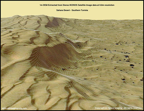 3D DEM Map of Sahara Desert