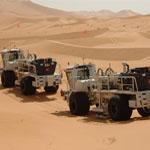 Seismic Vibrators - Sahara Desert
