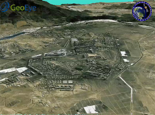 3D Flythrough of the Nuclear Facilities at Yongbyon (North Korea)