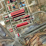 WorldView-3 Satellite Image Bayan Obo Mine China