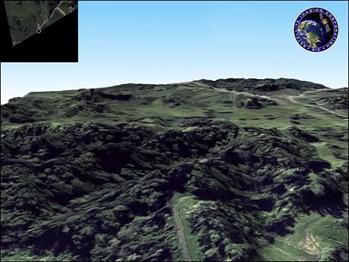 3D Terrain Flythrough Pipeline Corridor