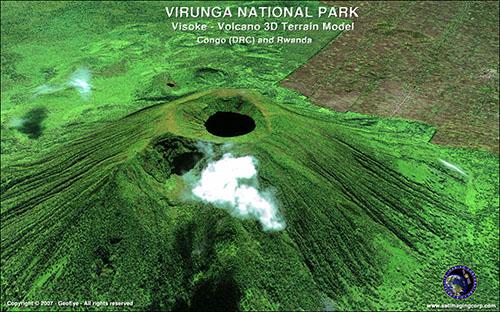 3D Terrain Flythrough Virunga National Parks