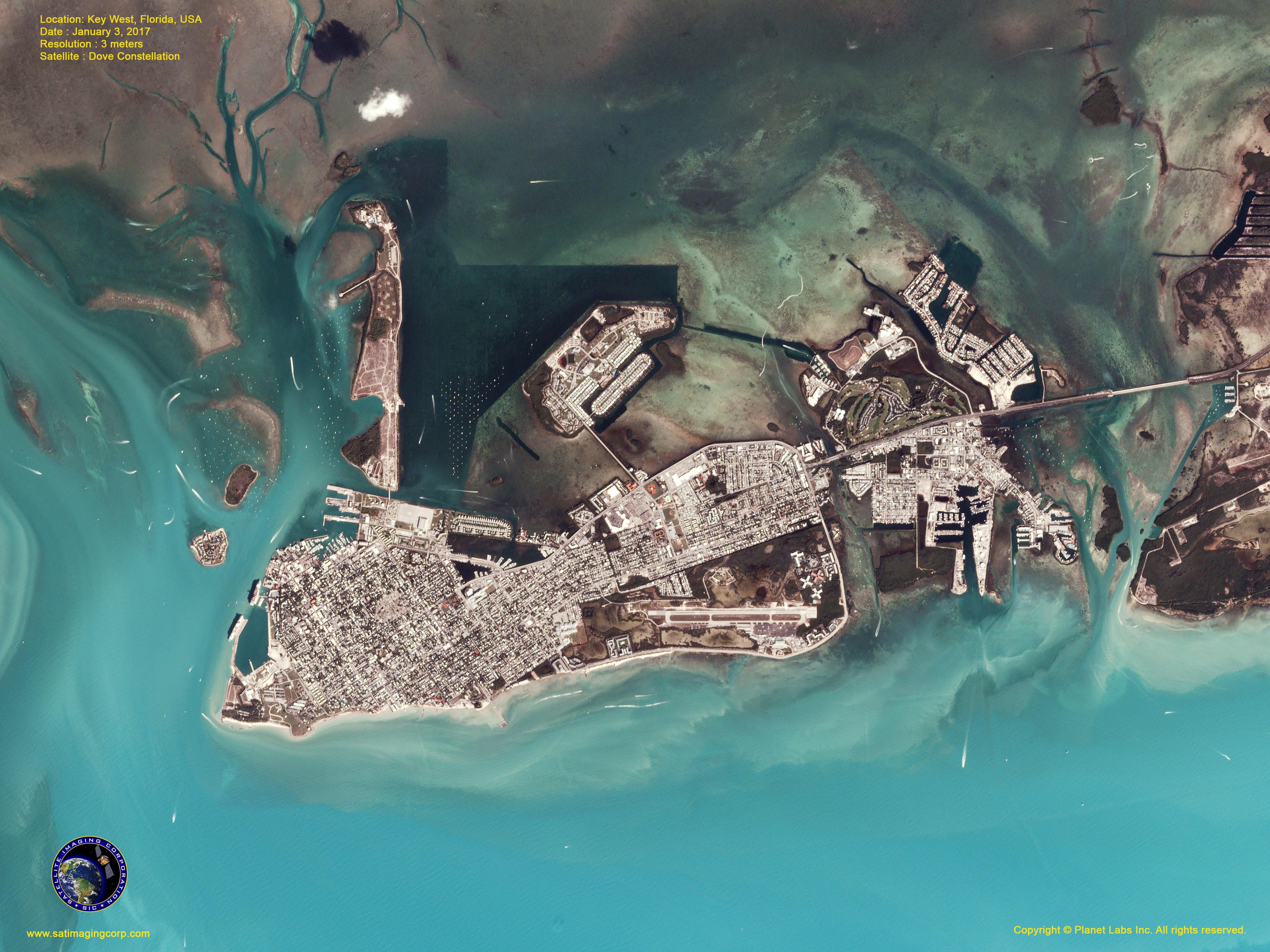 Satellite Map Of Florida.Dove Satellite Image Key West Florida Satellite Imaging Corp